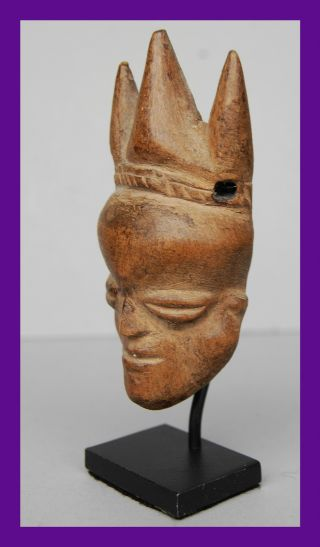 Fine Mask Pendant From The Pende Tribe Of The Congo photo