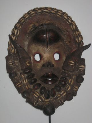 Stunning Dan Gunyege Racing Ceremonial Mask,  Cote D ' Ivoire photo