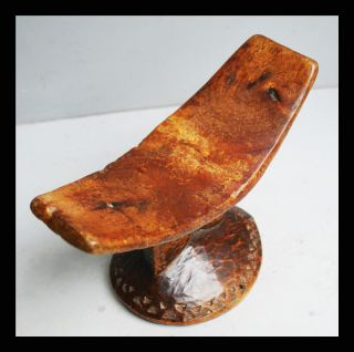 A Somali Headrest With Neat Engravings Throughout + Good Patina photo
