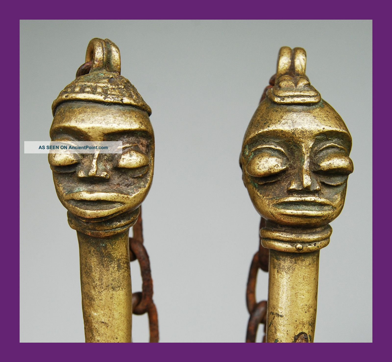 Pair Of Edan Bronzes From Nigeria ' S Yoruba Secret Society,  Nigeria Other photo