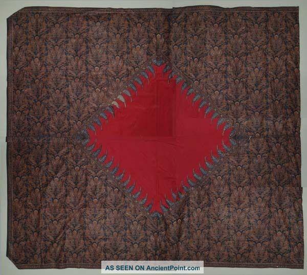 Vintage Indonesien Dodot Ceremonial Batik Fabric Textile Cloth Overwritten Bz53 Pacific Islands & Oceania photo