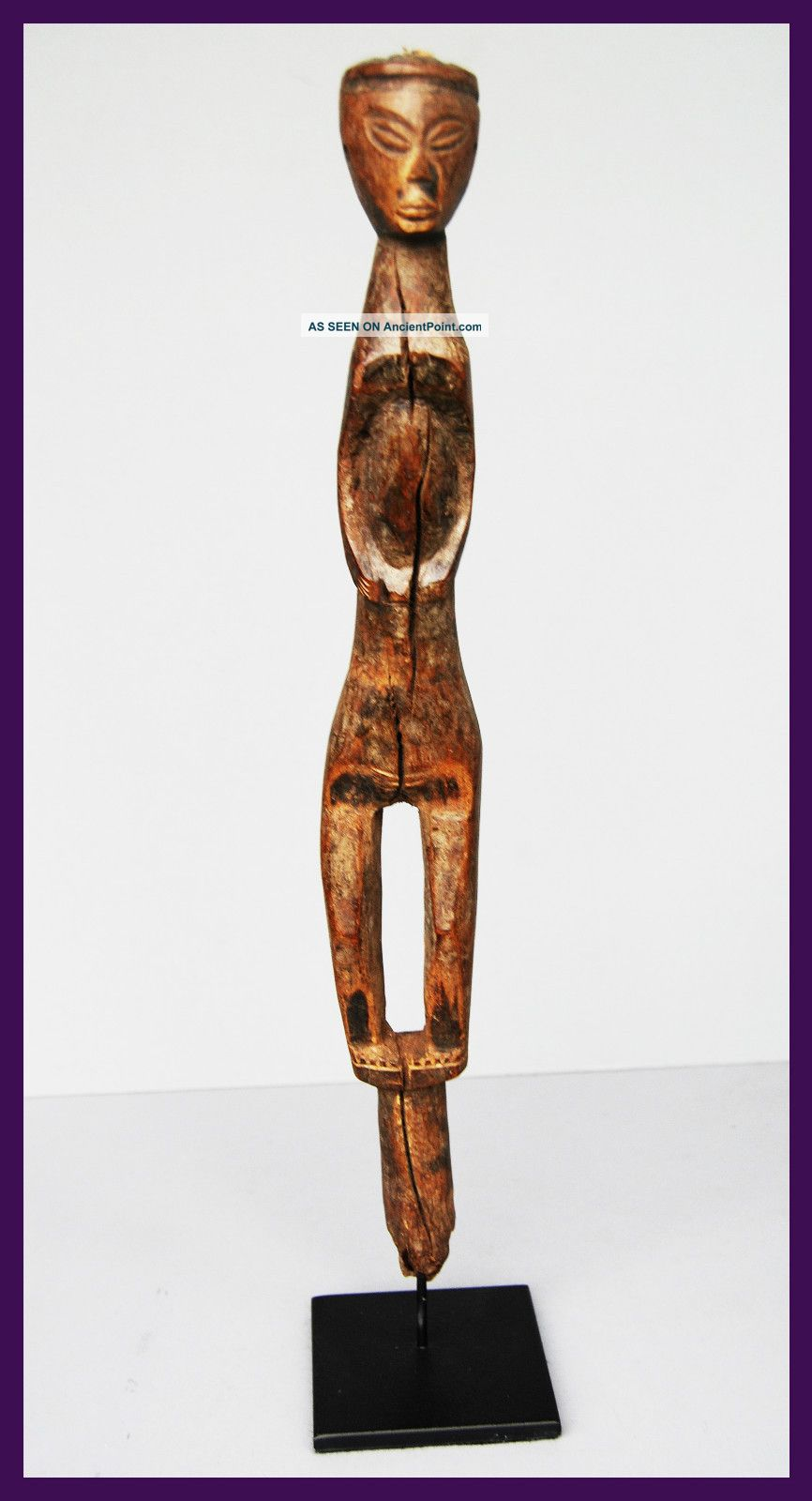 Fine Power Figure,  Fipe Tribe Of Tanzania,  With Medicine Recepticle In The Head Other photo