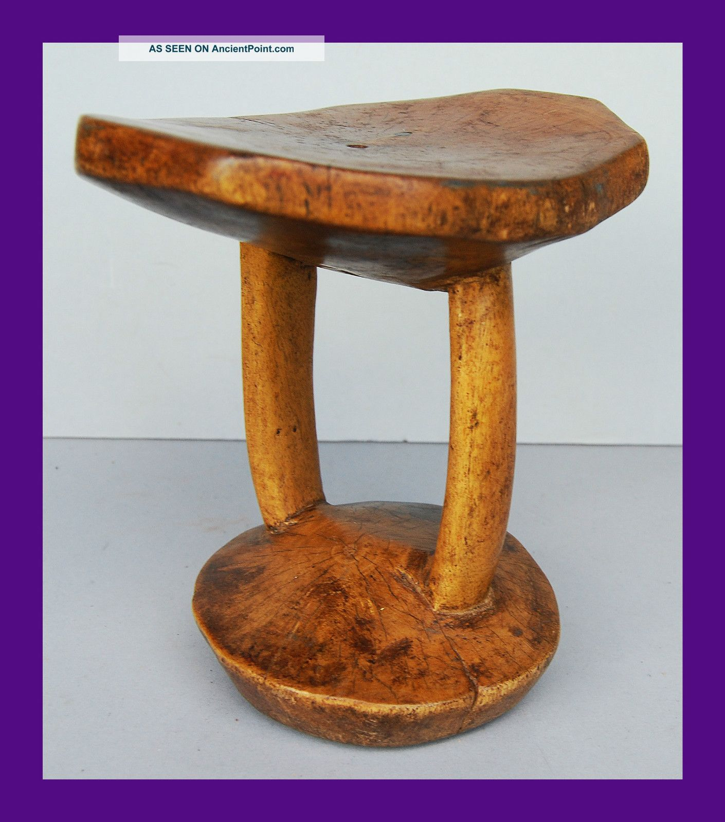 Precise Large Headrest From N Eastern Africa,  Good Patina Other photo