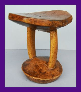 Precise Large Headrest From N Eastern Africa,  Good Patina photo
