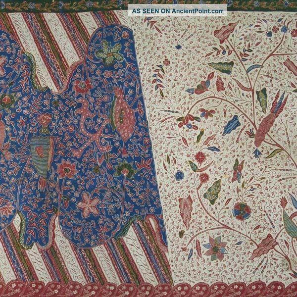 Vintage Batang Hand Drawn Batik Tulis Fabric Textile Cloth Wax Dye Jawa Bz84 Pacific Islands & Oceania photo