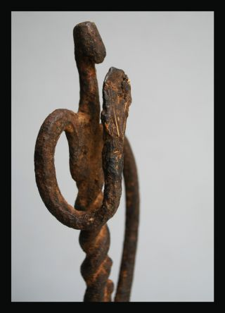 A Tall + Artistic Iron Figure From Lobi Tribe Of Burkina Faso photo