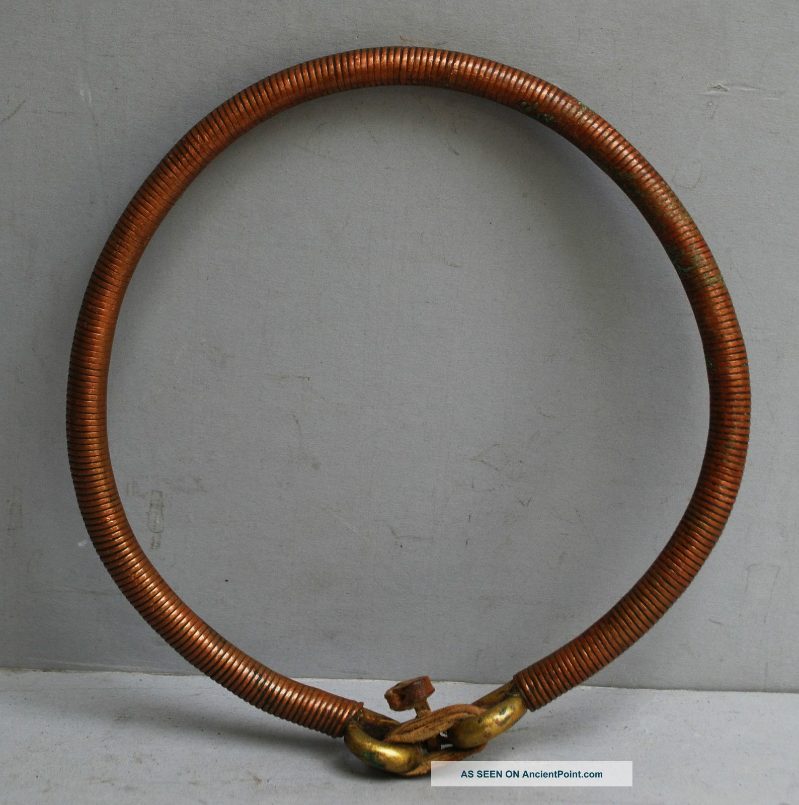 A Big Copper& Brass Torque With Fine Coil Cover,  From Ethiopia Other photo