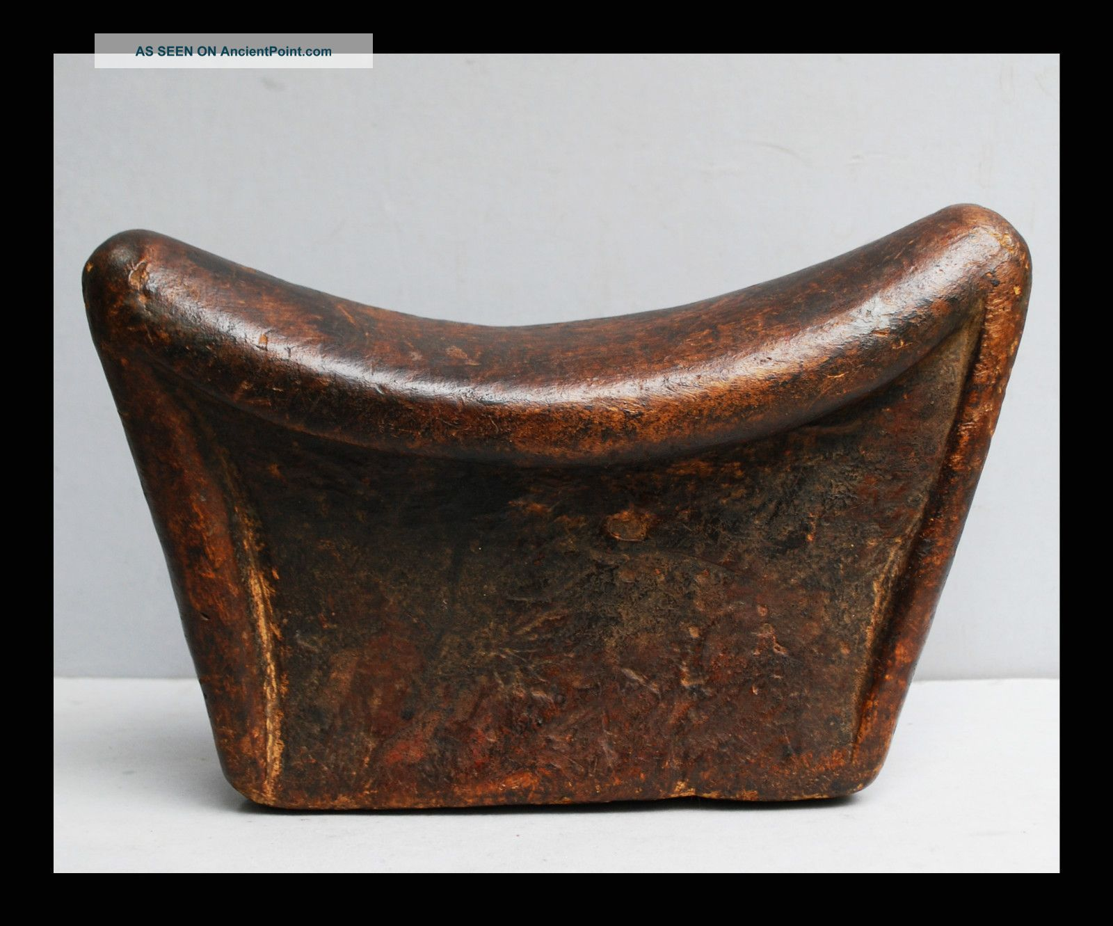 A Simply Shaped Samburu Tribe Headrest With Character Wood Knots Other photo