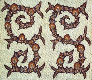 Mid Old Indonesien Jawa Hand Drawn Batik Tulis Fabric Textile Clothes Wax Bx91 photo