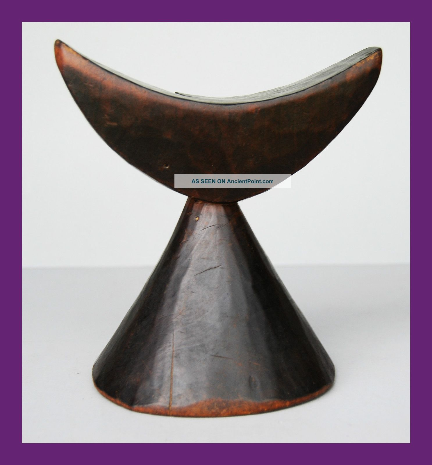 Beautifully Shaped Headrest With Fine Patina,  From Ethiopia Other photo