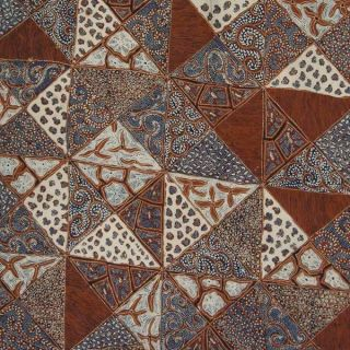Indonesie Batik Tulis Fabric Textile Cloth Tambal Bz14 photo