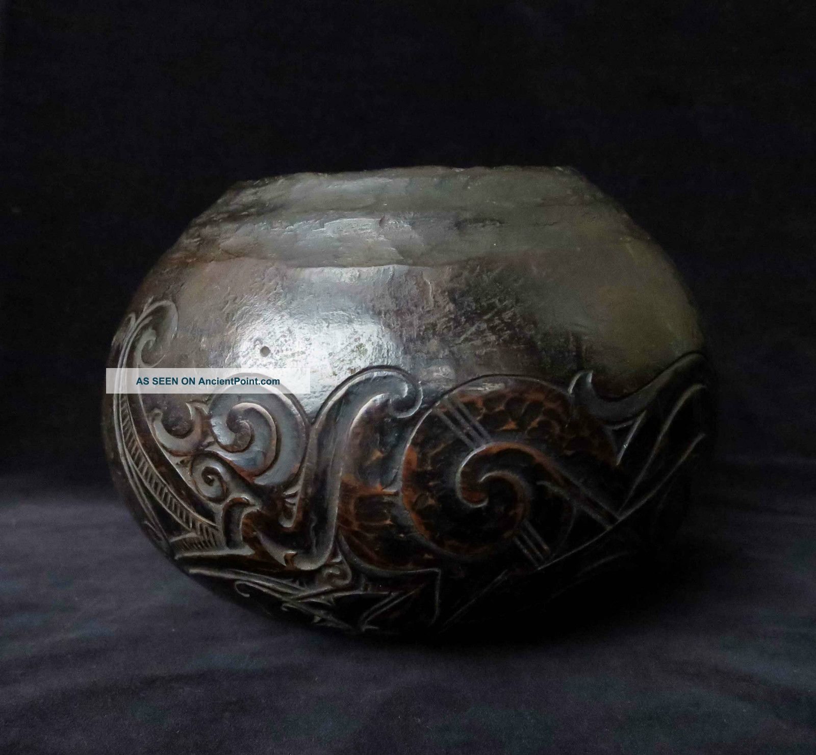 Old Dayak Bowl Early To Mid 20th Century. . . . . . . . . . . . .  (borneo Nias Batak Leti) Pacific Islands & Oceania photo