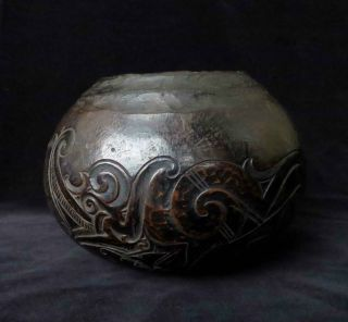 Old Dayak Bowl Early To Mid 20th Century. . . . . . . . . . . . .  (borneo Nias Batak Leti) photo