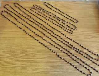 6 X 1970 ' S Seed Shell Necklaces From Papua New Guinea Collected By Missionaries photo