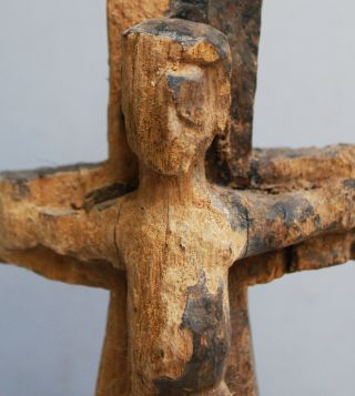An Old And Eroded Christ On The Cross From Tanzania photo