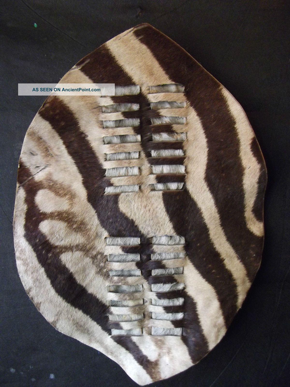 A Antique/vintage Hand Made African Zulu Zebra Shield Other photo