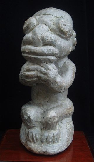 Old Carved Steatite Nomoli Figure Fron Sierra Leone photo