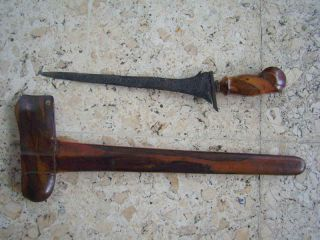 Old Keris Lombok 5 Luk Kriss Kris Pamor Lawe Satugal Ht32 photo