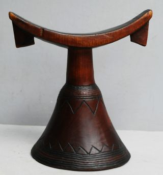A Beautifully Engraved Headrest From Ethiopia photo