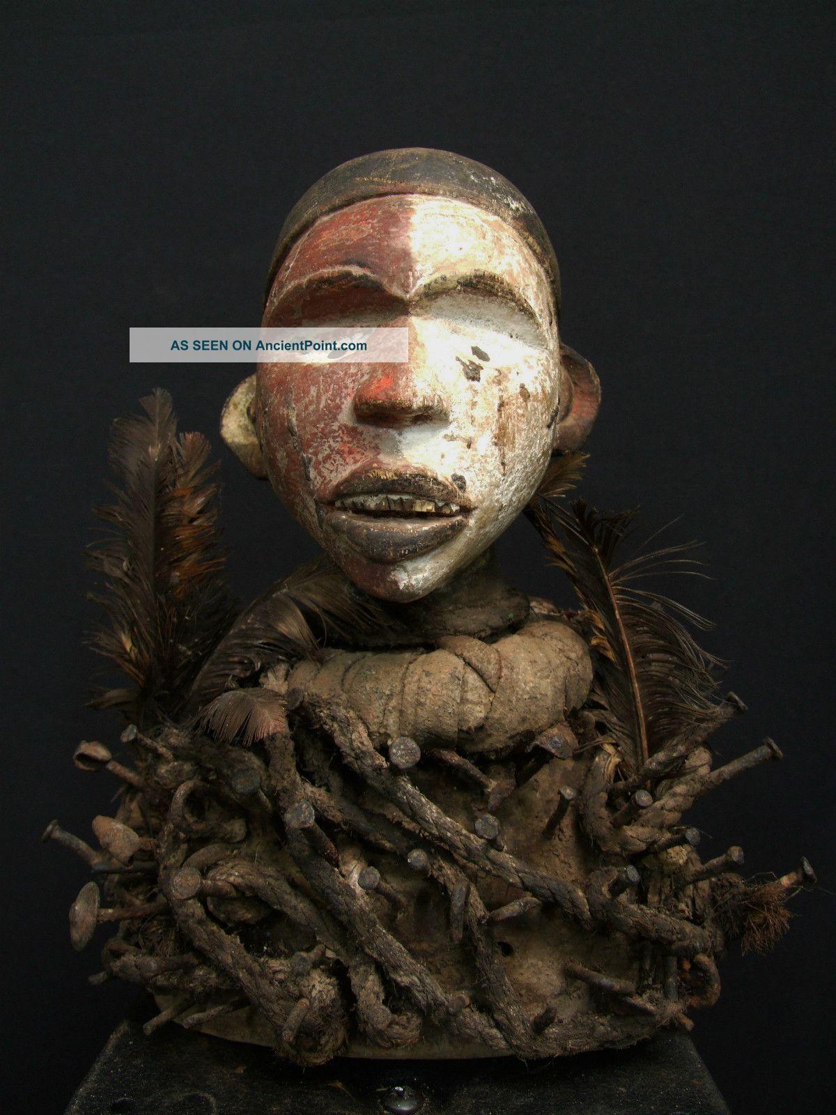 African Tribal Bacongo Nkonde Nail Fetish Figure Other photo