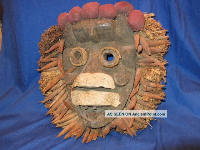 Carved Wood African Tribal Dan Mask From Liberia (6) Masks photo