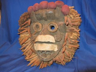 Carved Wood African Tribal Dan Mask From Liberia (6) photo