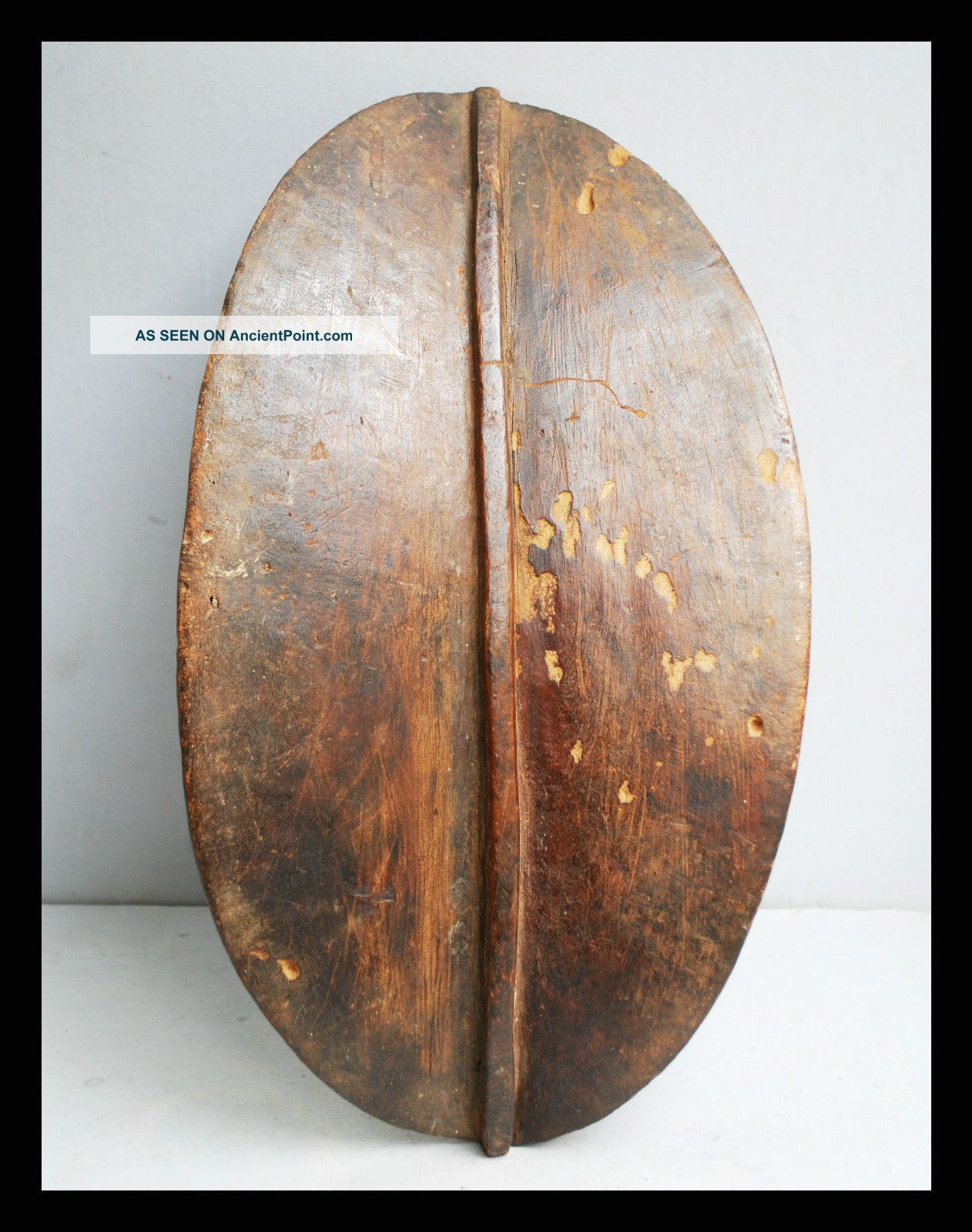 A Leaf Shaped Wooden Shield From Karamajong Tribe Of Kenya Other photo