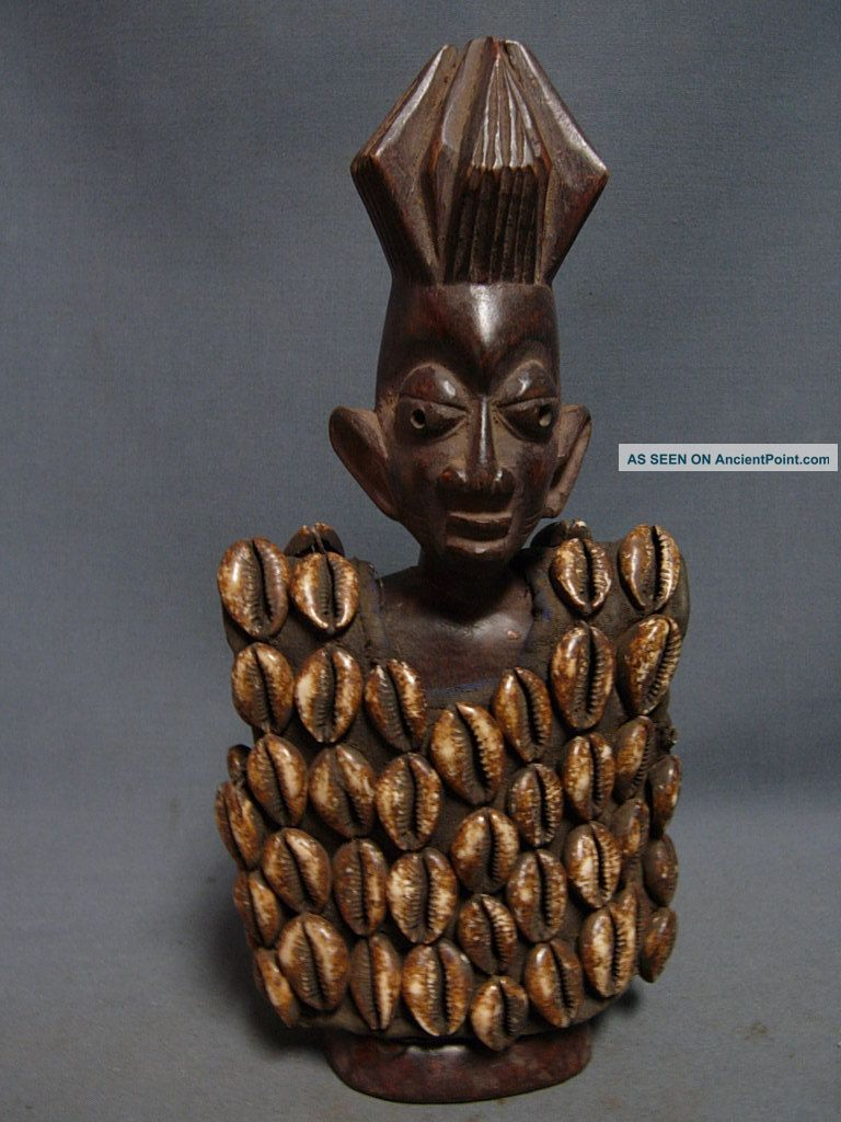 Lot 90,  Ere Ibeji Male Twin With Cowrie Shell Jacket,  Yoruba / Santeria Sculptures & Statues photo