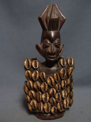 Lot 90,  Ere Ibeji Male Twin With Cowrie Shell Jacket,  Yoruba / Santeria photo