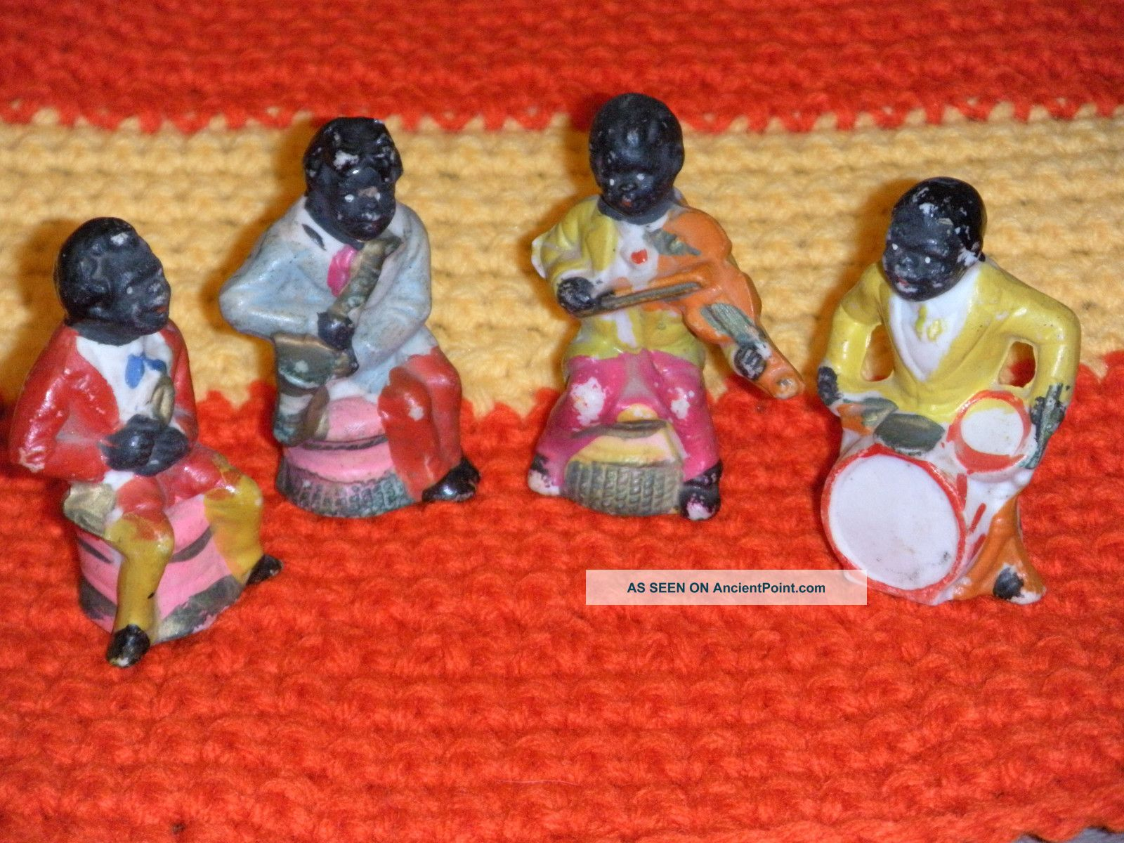 Four Piece Negro Band Sculptures & Statues photo