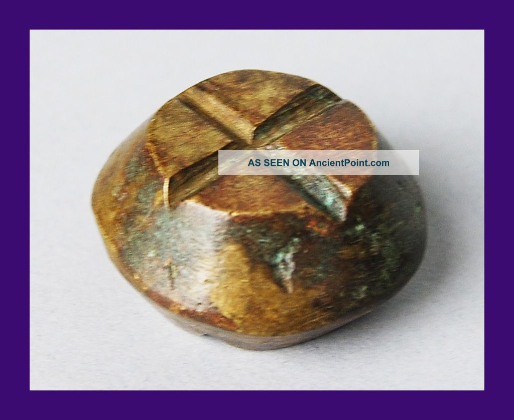 A Rare Circle 18thc Akan Gold Dust Weight From Former Gold Coast Other photo