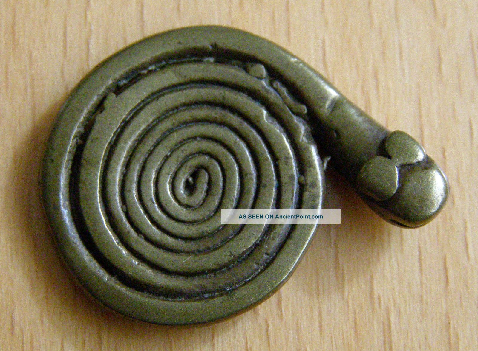 Coiled Snake Outstanding 5.  7 Gr Very Smooth Old Akan Ashanti Asante Goldweight Other photo