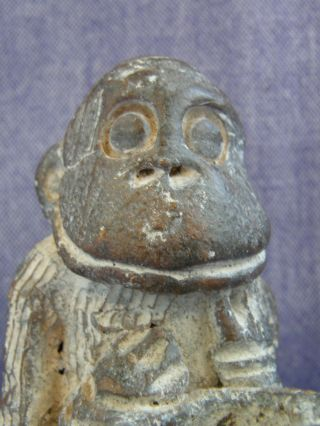 African Tikar Clay Monkey Figure From Cameroon photo