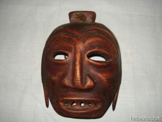 Old African Mask,  From The Omo Valley Of Ethiopia,  African Tribal Art photo