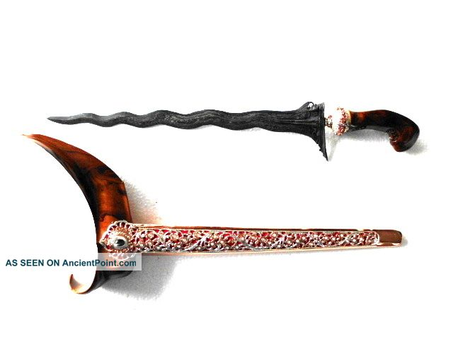 New Keris Sabuk Inten 11 Luk Kriss Kris Li48 Pacific Islands & Oceania photo