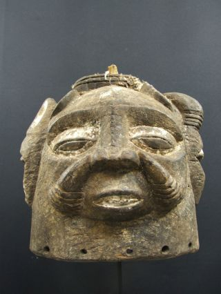 African Tribal Nigerian Helmet Mask photo