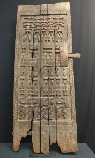 African Tribal Dogon Granary Door,  Mali photo