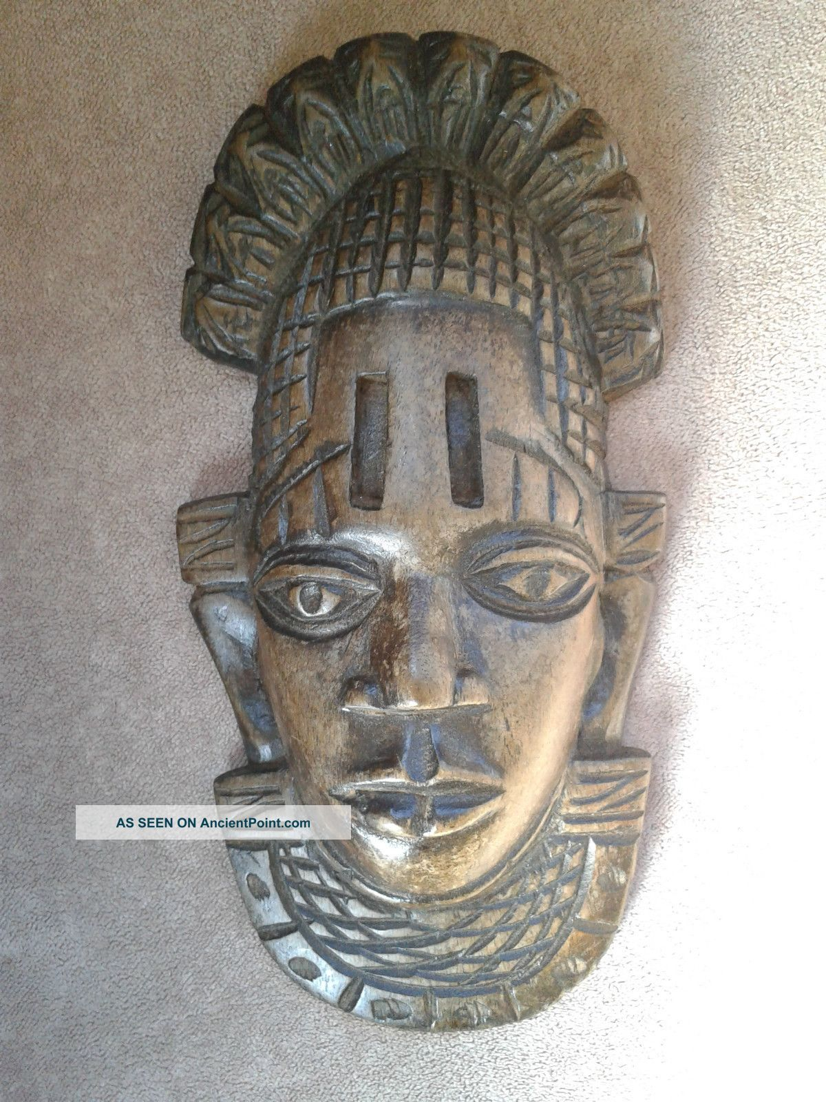 Vintage African Tribal Wall Mask Wooden Other photo