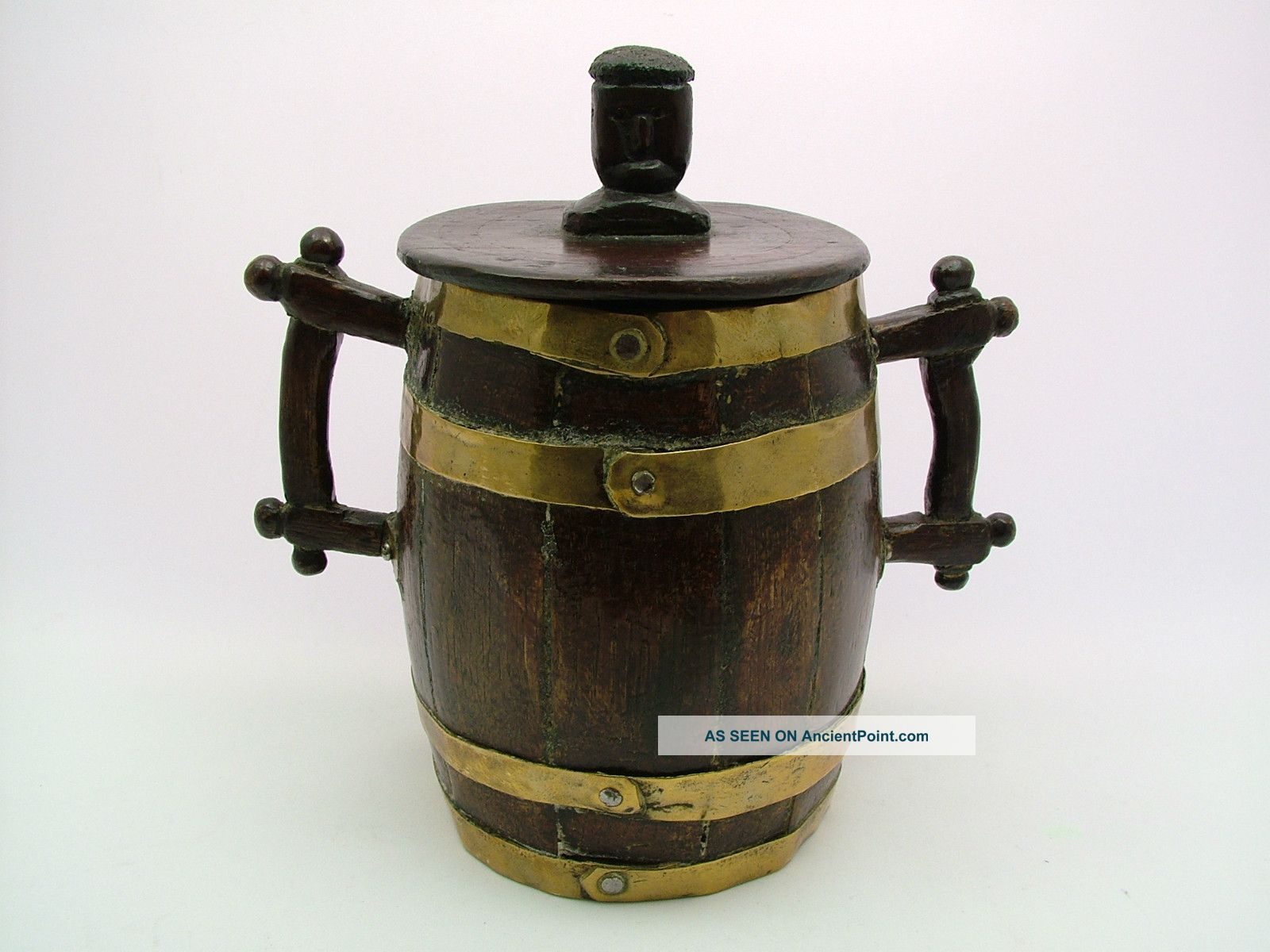 A Most Unusual 19th C.  Folk Art Coopered Barrel - Possibly Maritime Art. Pacific Islands & Oceania photo