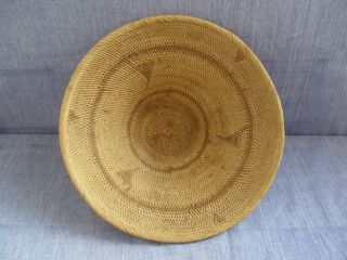 Attractive Old Tightly - Woven African Basket photo