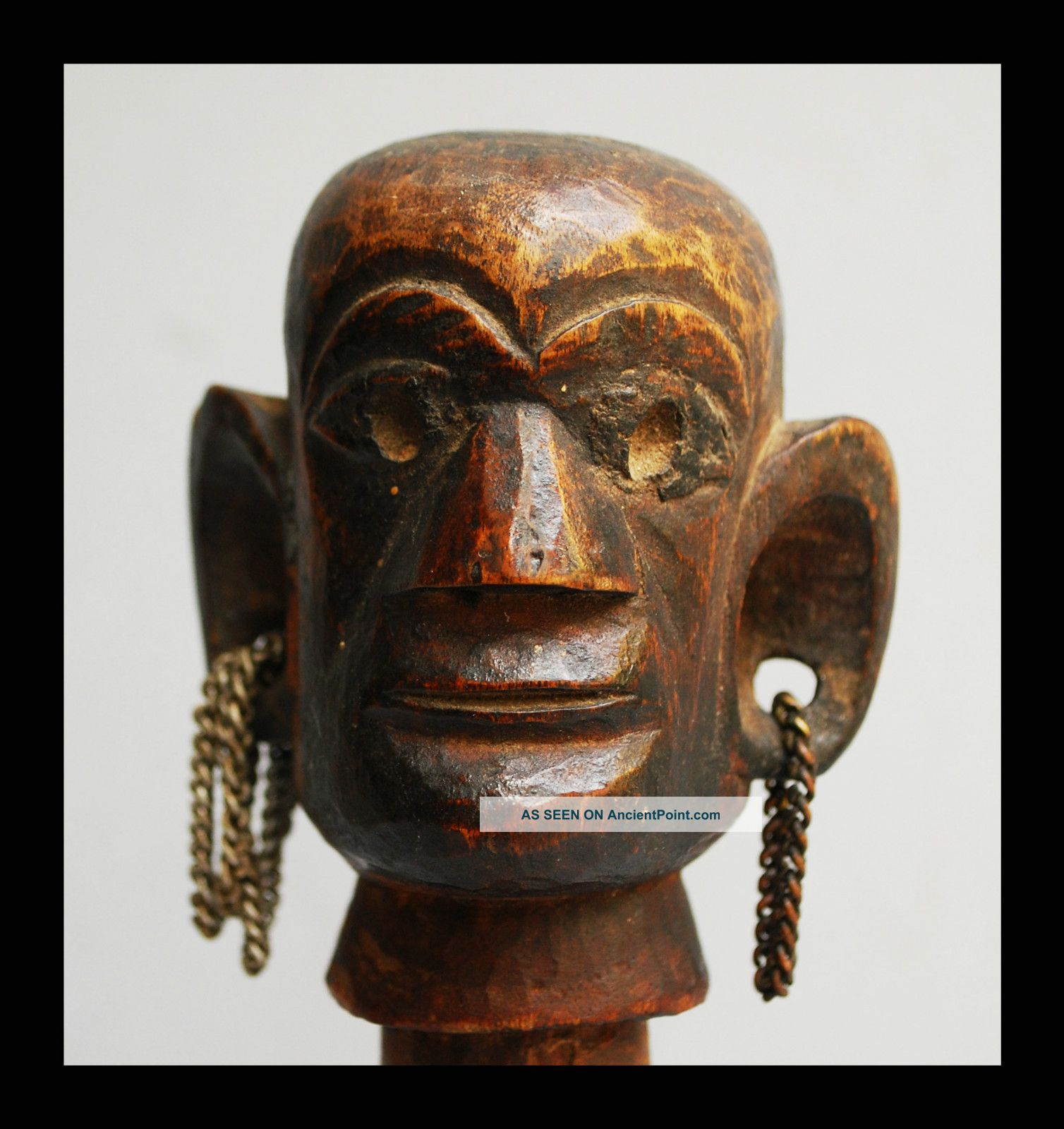 A Kamba Figurative Stopper With Characteristically Large Ears,  From Kenya Other photo