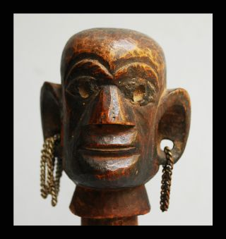 A Kamba Figurative Stopper With Characteristically Large Ears,  From Kenya photo