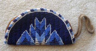 Northern Cheyenne Full Beaded Hide Purse - Northern Cheyenne Reservation Montana photo