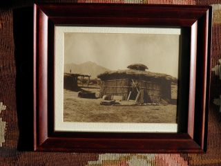 Antique,  Lovely,  Interesting Print Of Traditional Papago/pima Dwelling photo