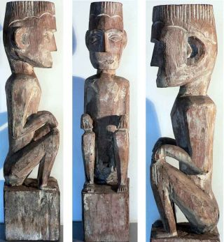 Old Ancestor Statue Indonesia Tribal Art Leti Sunda photo