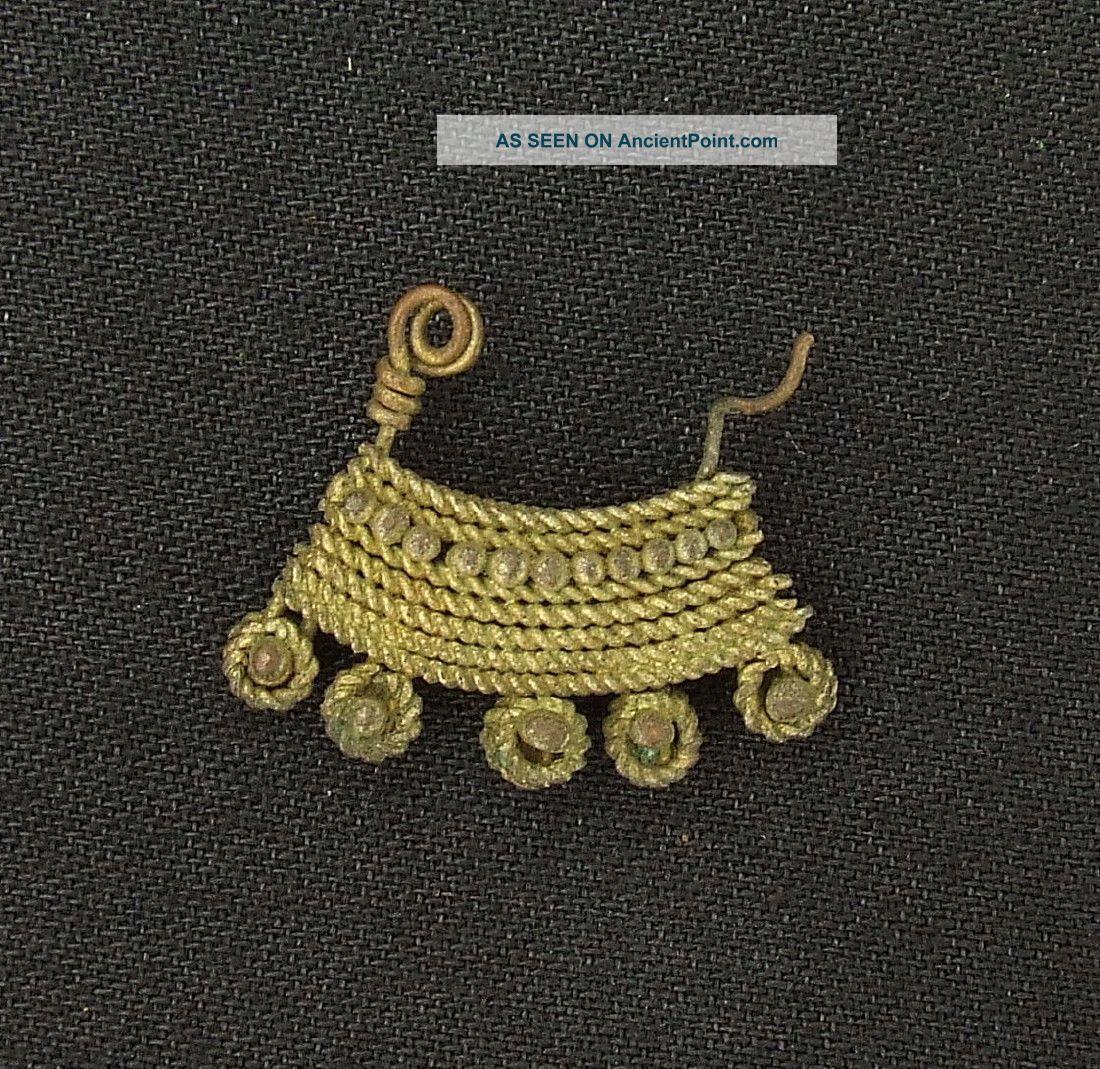 Ancient Brass Earring - 100 Years Old - Sahara Jewelry photo