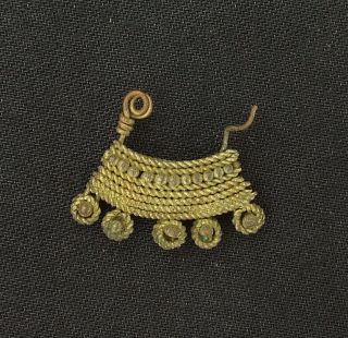Ancient Brass Earring - 100 Years Old - Sahara photo