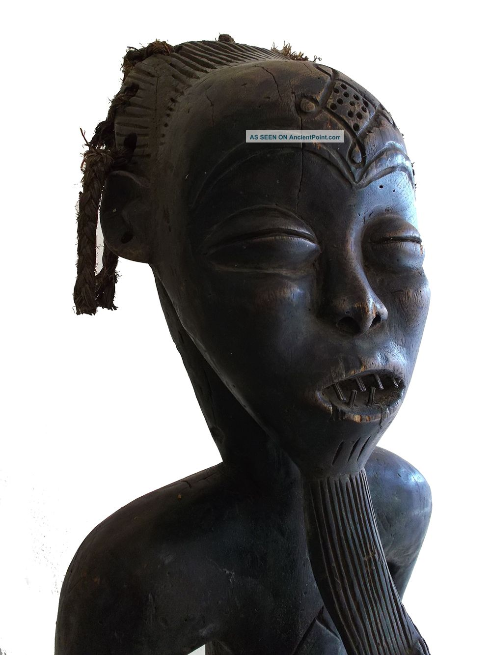 Item 027 Chokwe Tribe Seated Ancestral Figure Congo Zaire Ritual African Statue Sculptures & Statues photo