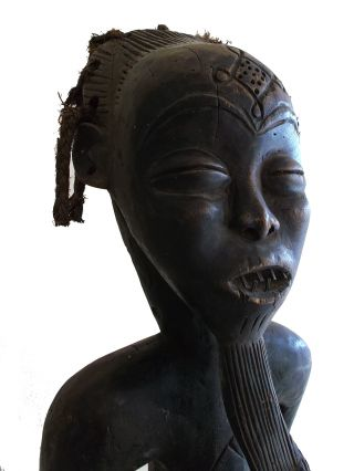 Item 027 Chokwe Tribe Seated Ancestral Figure Congo Zaire Ritual African Statue photo