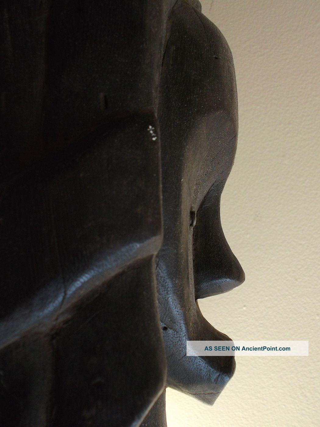 Item 052 Fang Tribe Bieri African Reliquary Guardian Figure Head Gabon Sculptures & Statues photo